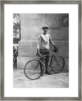 Century Bicycle Club Member Framed Print by Underwood Archives