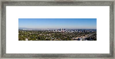 Century City, Wilshire Corridor Framed Print by Panoramic Images