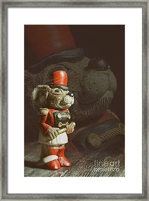 Ceramic Mouse Holding Baton Framed Print by Amanda And Christopher Elwell