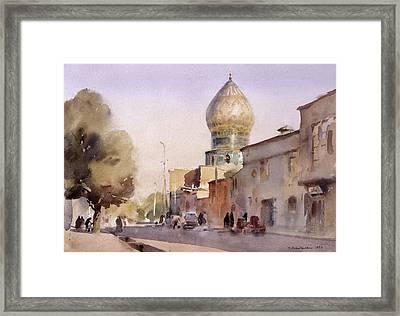 Ceramic Reflection, Shiraz, 1994 Wc On Paper Framed Print by Trevor Chamberlain