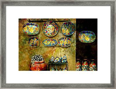 Ceramica Italiana Framed Print by Diana Angstadt