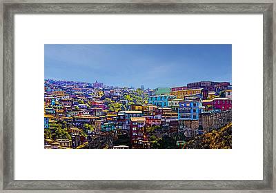 Cerro Artilleria Valparaiso Chile Framed Print by Kurt Van Wagner