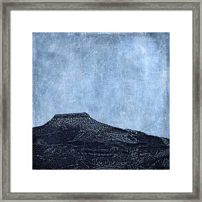 Cerro Pedernal Framed Print by Carol Leigh