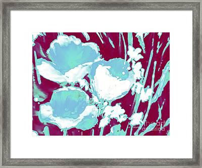 Cerulean Flower Bouquet  Framed Print by Tatjana Popovska