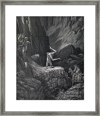 Cervantes's Don Quixote, Naked Tumbles Framed Print by Middle Temple Library