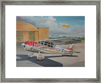 Cessna 195 Framed Print by Stuart Swartz
