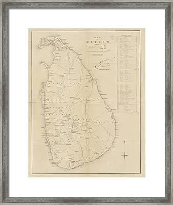 Ceylon Framed Print by British Library