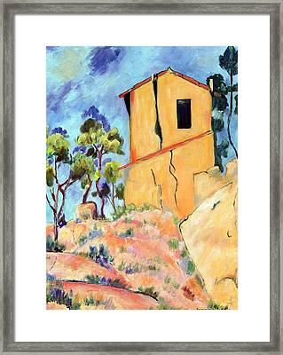 Cezanne's House With Cracked Walls Framed Print by Jamie Frier