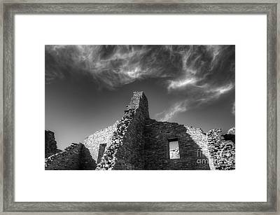 Chaco Canyon Pueblo Bonito Monochrome Framed Print by Bob Christopher