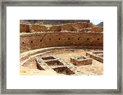 Chaco Ruins Framed Print by Elizabeth Sullivan