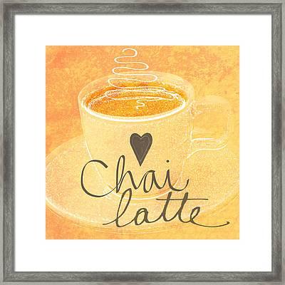 Chai Latte Love Framed Print by Linda Woods