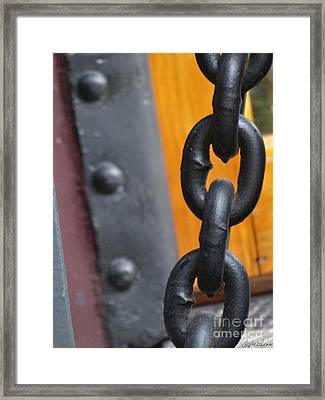 Chain And Rivets Framed Print by Lyric Lucas