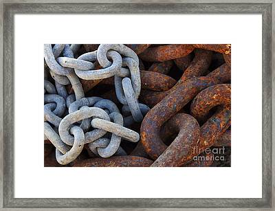 Chain Links Framed Print by Carlos Caetano