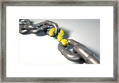 Chain Missing Link Question Framed Print by Allan Swart