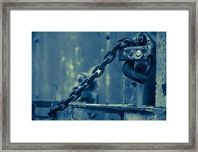 Chained And Moody Framed Print by Toni Hopper