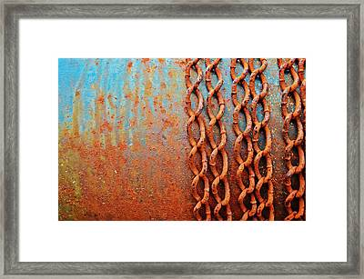 Chains Framed Print by Christina Walker