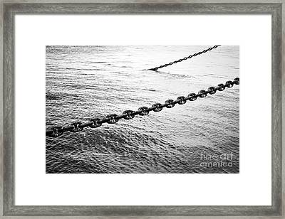 Chains Framed Print by Dean Harte