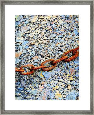Chains That Bind Framed Print by Marcia L Jones