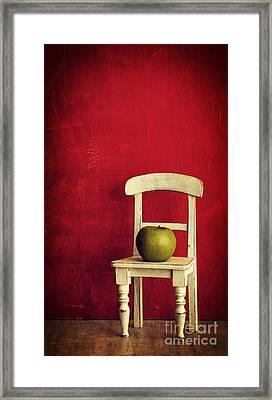 Chair Apple Red Still Life Framed Print by Edward Fielding
