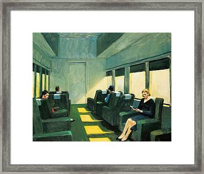 Chair Car Framed Print by Edward Hopper