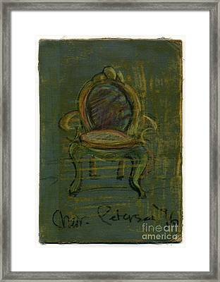 Chair Fetish '96 Framed Print by Cathy Peterson
