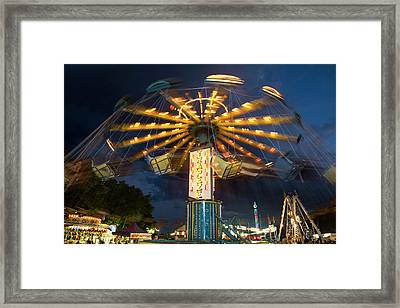 Chair Swing Fairground Ride Framed Print by Jim West