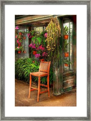 Chair - The Chair Framed Print by Mike Savad
