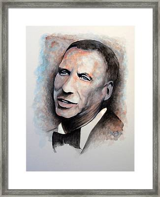 Chairman Of The Board - Sinatra Framed Print by William Walts
