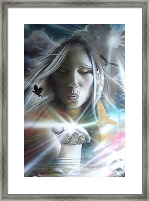 Portrait - 'chakra' Framed Print by Christian Chapman Art