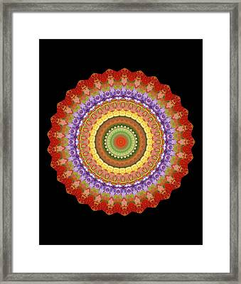 Chakra Spin Framed Print by Barbie Wagner