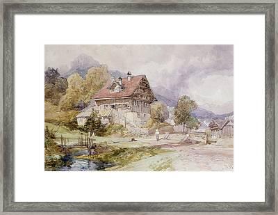 Chalet, Brunnen, Lake Lucerne Framed Print by James Duffield Harding