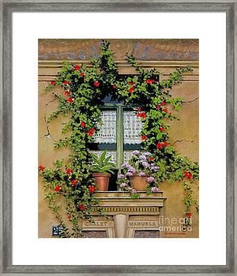 Chalet Manuela Framed Print by Michael Swanson