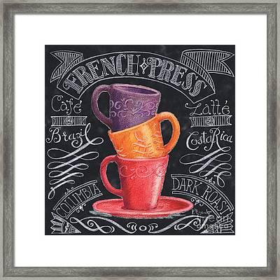 Chalkboard Coffee II Framed Print by Paul Brent