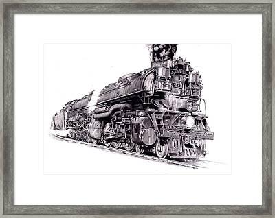 Challenger Locomotive Framed Print by Nick Naethuijs
