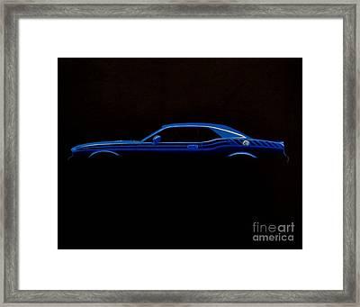 Challenger Silhouette Framed Print by Paul Kuras