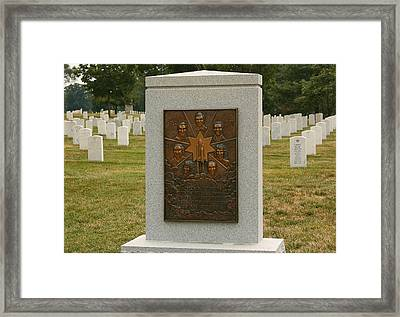 Challenger Space Shuttle Memorial Framed Print by Kim Hojnacki