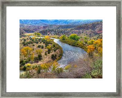 Chama River Overlook Framed Print by Alan Toepfer