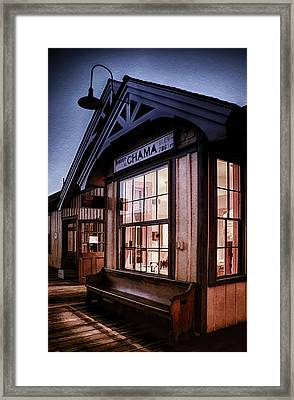 Chama Train Station Framed Print by Priscilla Burgers