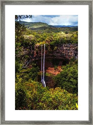 Chamarel Waterfall 1. Mauritius Framed Print by Jenny Rainbow