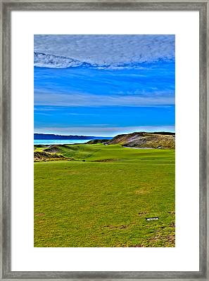 Chambers Bay - Hole #1 Framed Print by David Patterson