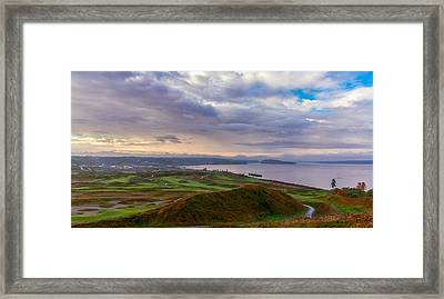 Chambers Bay Links Framed Print by Ken Stanback
