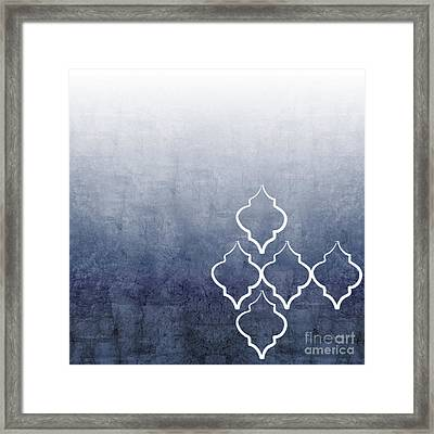 Chambray Ombre Framed Print by Linda Woods