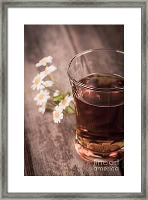Chamomile Tea Retro Framed Print by Jane Rix