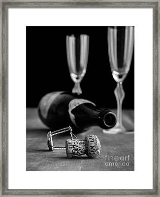 Champagne Bottle Still Life Framed Print by Edward Fielding