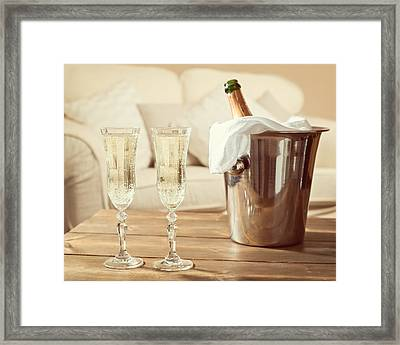 Champagne Celebration Framed Print by Amanda And Christopher Elwell