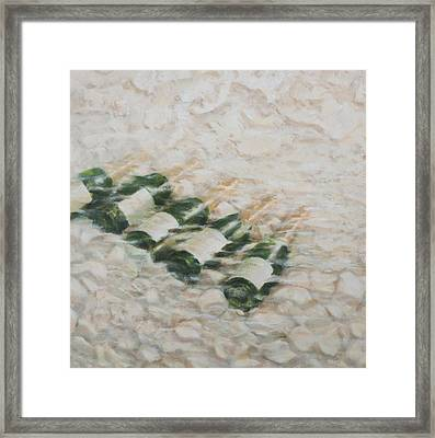 Champagne Cooling Framed Print by Lincoln Seligman