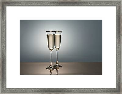 Champagne Glasses Framed Print by Ulrich Schade