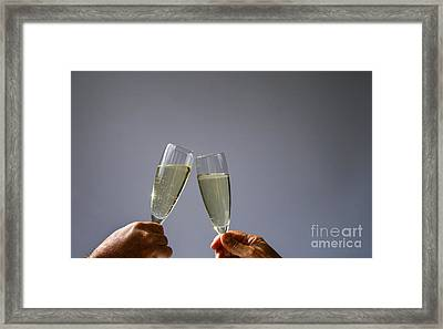 Champagne Toast Framed Print by Patricia Hofmeester