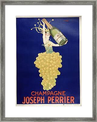 Champagne Framed Print by Vintage Images