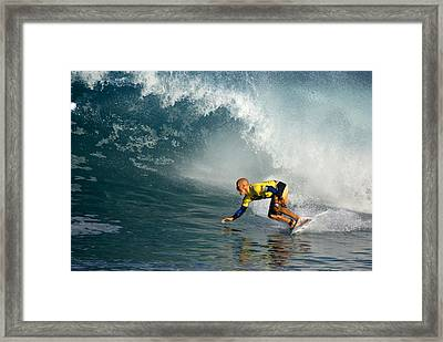 Champion At Pipeline Masters  Framed Print by Kevin Smith